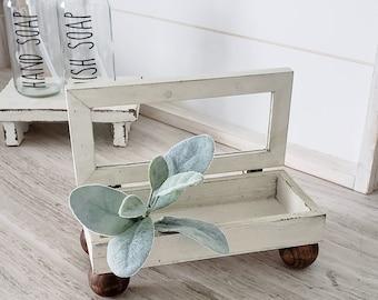 Vintage Inspired Antique-look Footed Keepsake Box. Wooden Keepsake Box.