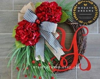 Whimsical Christmas Grapevine Wreath. Christmas Wreath. Holiday Wreath. Winter Wreath. Door Wreath. Monogram Wreath. Artificial Wreath.