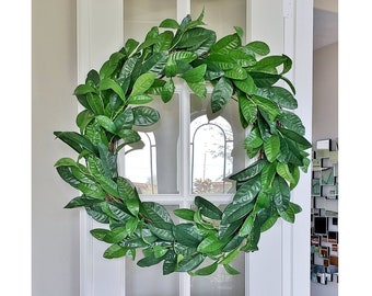 Lemon Leaf Grapevine Wreath.