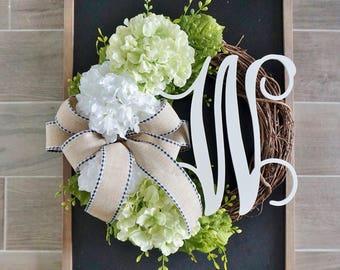 Light Green Hydrangea Grapevine Wreath