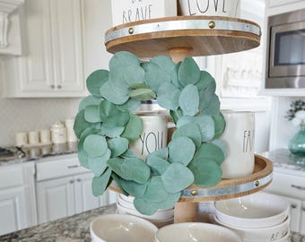 MINI Eucalyptus Grapevine Wreath.