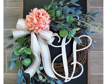Hydrangea & Eucalyptus Wreath