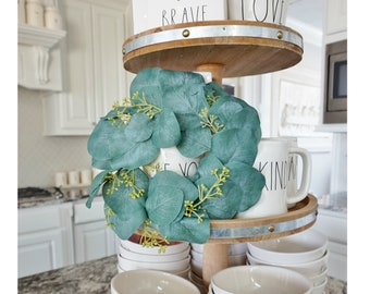 MINI Seeded Eucalyptus Grapevine Wreath.