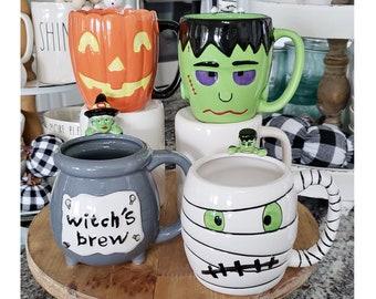 Halloween Mugs Set of 4
