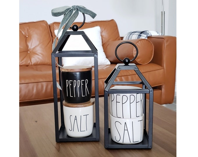 Black Metal Lantern Set of 2
