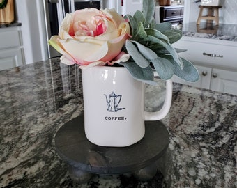 Potted Lambs Ear in Ceramic Icon Mug