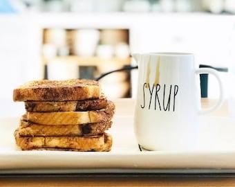 Rae Dunn Large Letter: Syrup Dispenser Jar