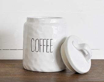 Ceramic Coffee Canister. Coffee Jar. Coffee Keeper.