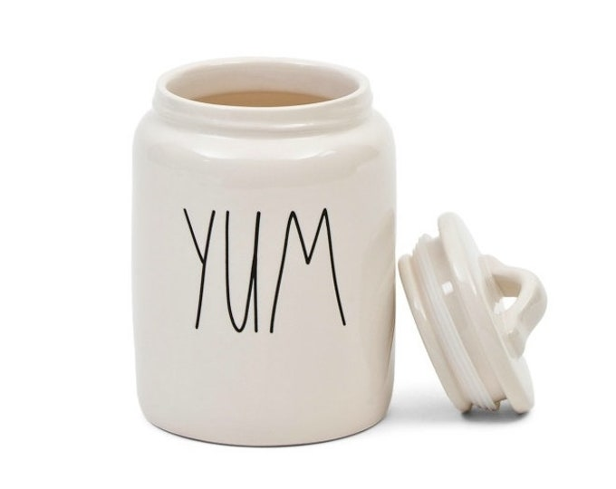 """Rae Dunn Large Letter: """"Yum"""" Canister"""