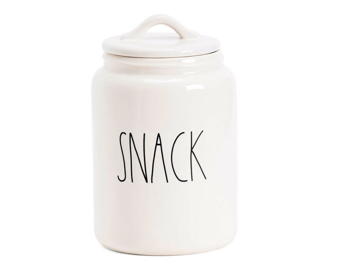 "Rae Dunn Large Letter: ""Snack"" Canister"