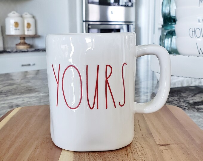 "Rae Dunn Large Letter: ""Yours"" Coffee Mug"