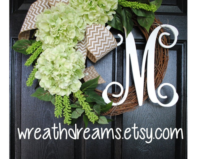 Light Green Hydrangea Wreath