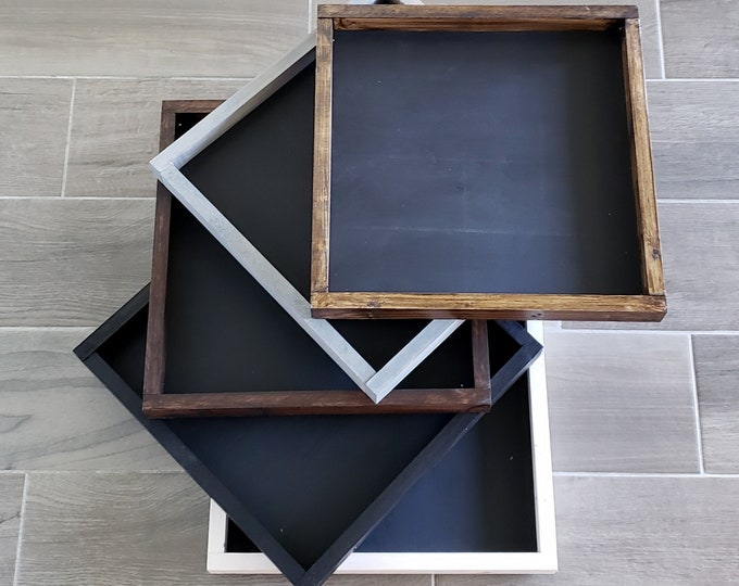 Black Board Wooden Frame.