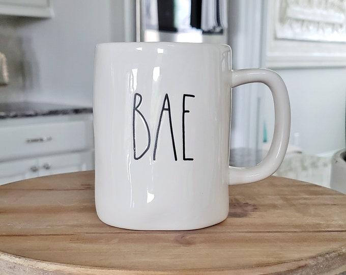 Rae Dunn Large Letter Mug: Bae