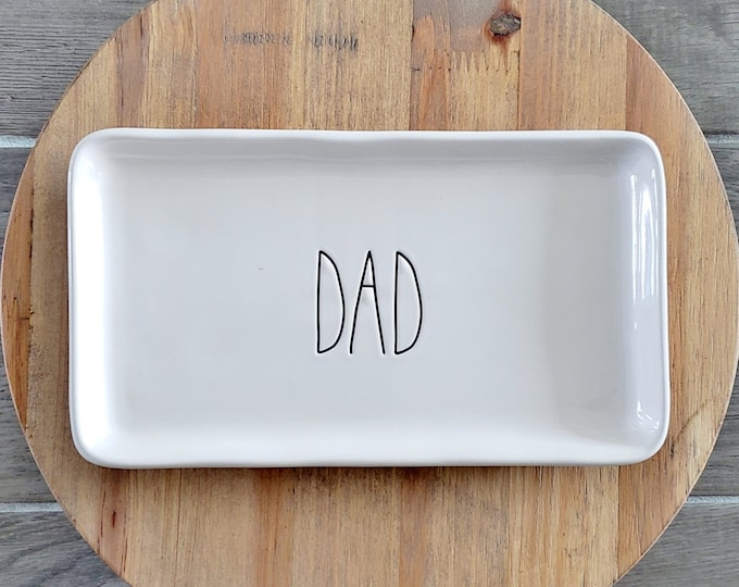 """Rae Dunn Large Letter: """"Dad"""" Small Serving Platter"""
