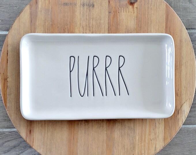 """Rae Dunn Large Letter: """"Purrr"""" Small Serving Platter"""
