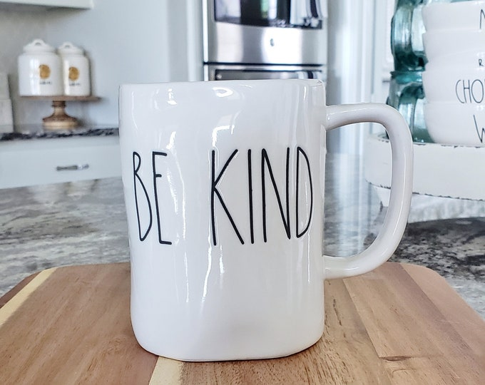 "Rae Dunn Large Letter: ""Be Kind"" Coffee Mug"