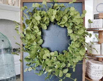 Eucalyptus Grapevine Wreath.