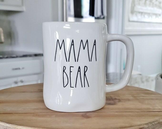 Rae Dunn Large Letter Mug: Mama Bear