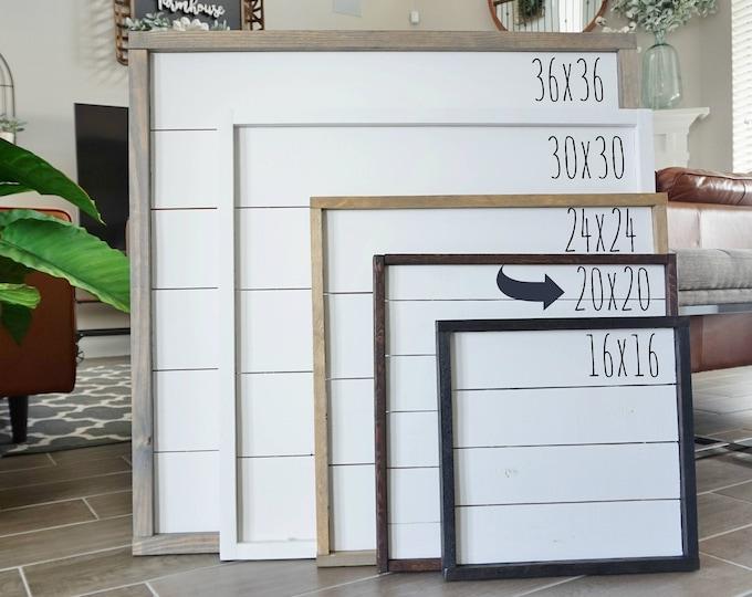 Custom Hand-Crafted 20x20 Shiplap Frame