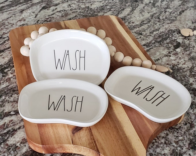 Rae Dunn Large Letter Wash Soap Dish