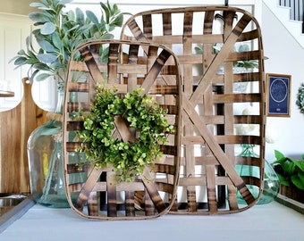 Eucalyptus & Beach Tobacco Basket Wreath.