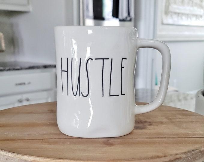 Rae Dunn Large Letter Mug: Hustle