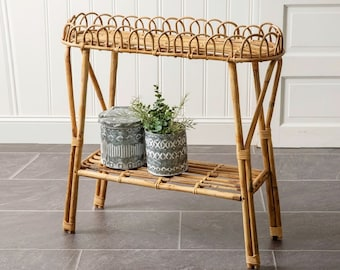 Rattan Accent Table. Bamboo Accent Table. Rattan Plant Stand. Bamboo Plant Stand. Rattan Planter. Bamboo Planter.