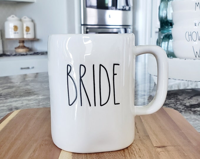 "Rae Dunn Large Letter: ""Bride"" Coffee Mug"