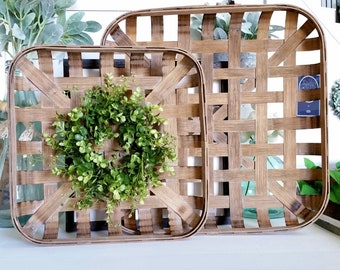 Eucalyptus & Beach Tobacco Basket Wreath.