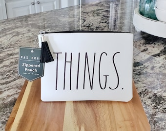 Rae Dunn Large Letter: Small THINGS Bag