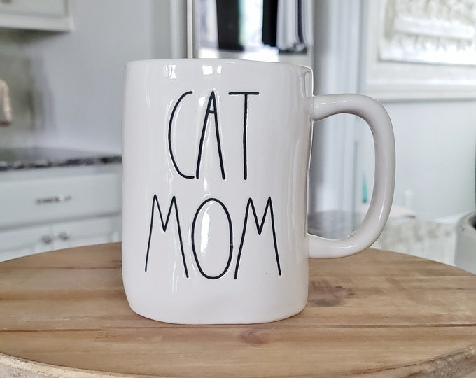 Rae Dunn Large Letter Mug: Cat Mom