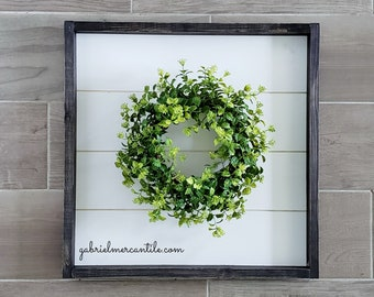 Shiplap Framed Broxwood Wreath. Shiplap Sign. Shiplap Wall Decor. Shiplap Wreath. Shiplap Frame.
