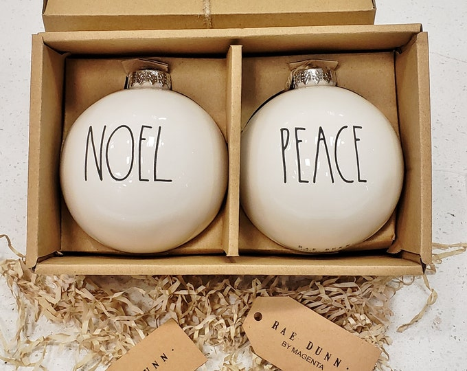 Rae Dunn Large Letter: Christmas Ornaments
