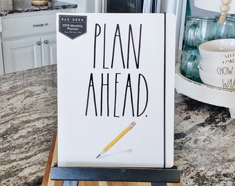 Rae Dunn Large Letter: PLAN AHEAD Monthly Planner