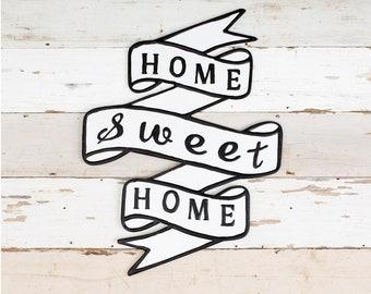 Vintage Inspired Enamel Home Sweet Home Sign