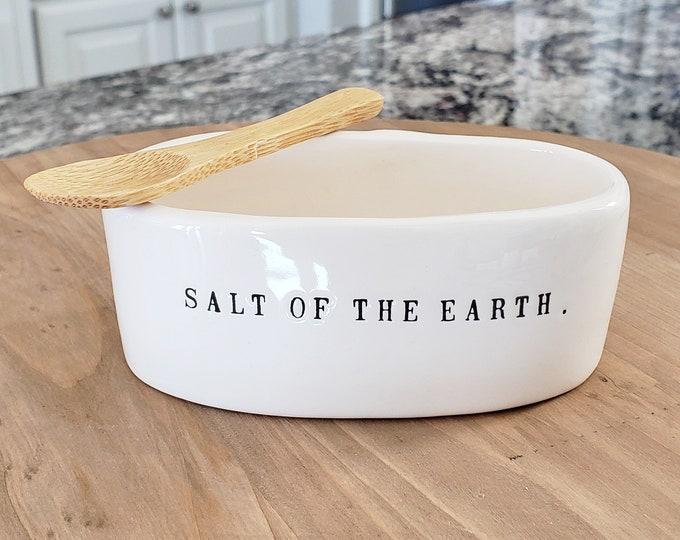 Rae Dunn Boutique:  Salt Cellar w/Spoon