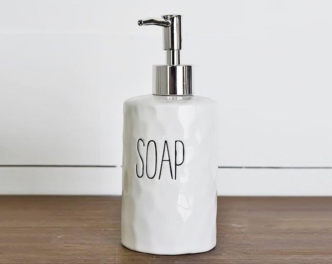 Ceramic Soap Dispenser with Pump   Shampoo   Conditioner   Dispenser Bottle   Refillable Soap Dispenser