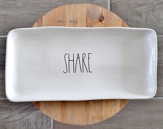 """Rae Dunn Large Letter: Large """"Share"""" Platter"""