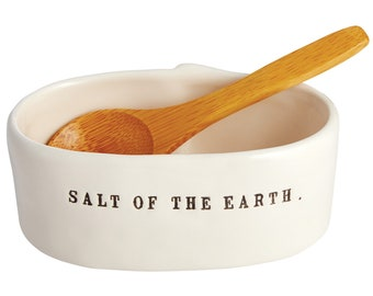 Rae Dunn Boutique:  Salt Cellar w/Spoon
