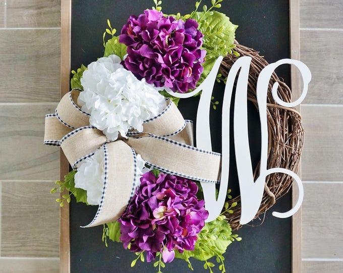 Light Purple Hydrangea Grapevine Wreath