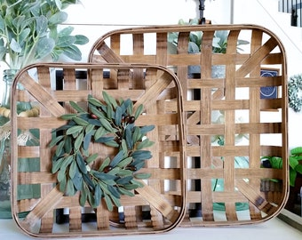 Olive Stems Tobacco Basket Wreath.