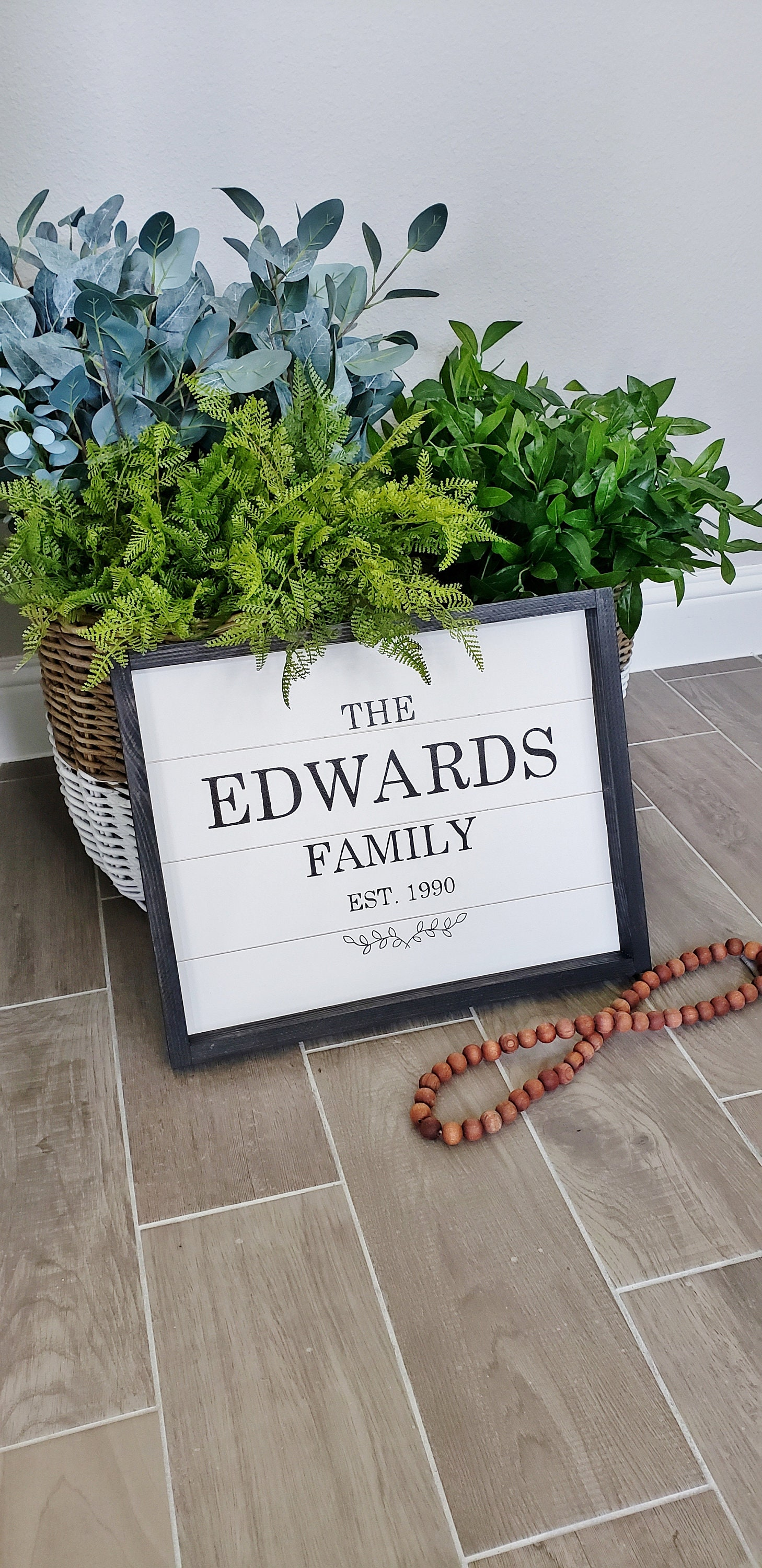 Custom Hand-Crafted Family Name Shiplap Frame Sign