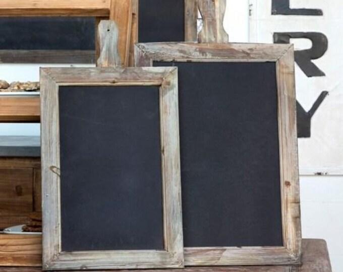 SET OF 2 Vintage Style Chalkboard Message Boards