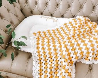 Eco Kids | Crochet Baby blanket | Vegan friendly Blanket | Handmade Unisex Baby Blanket