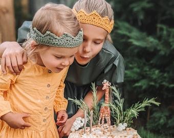 Eco Kids | One Size Handmade Crown | Crochet Birthday Crown| Dress Up & Pretend Play | Photo Prop