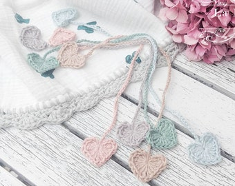 Eco Baby | Crochet Heart Umbilical Cord Tie for Newborn Baby | Plastic Free Cord Clamp