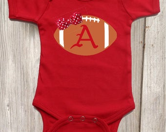 Razorback  Football Bodysuit for Baby Girl