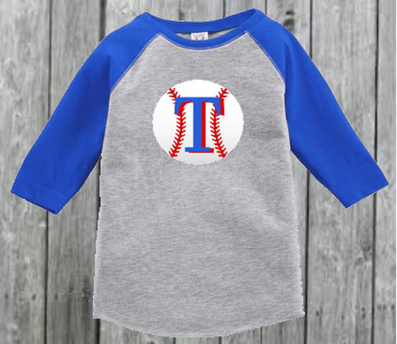 watch c3584 dc39a Texas Rangers Inspired Baseball Tee for Toddler