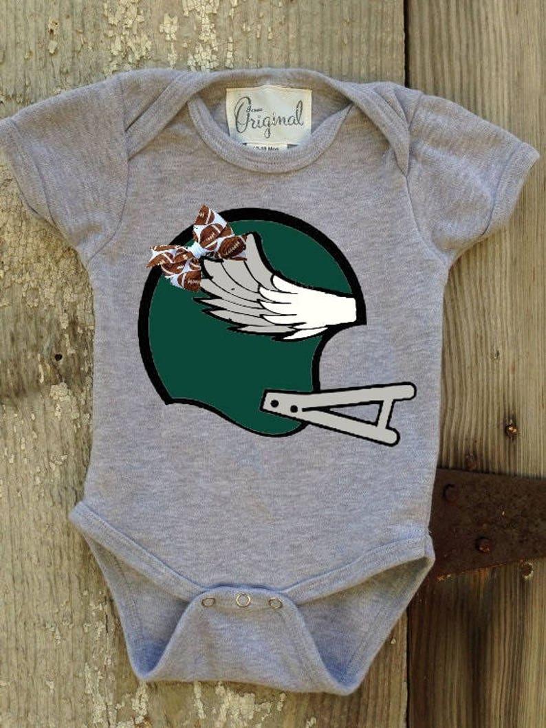 Eagles Inspired Bodysuit For Baby Girl